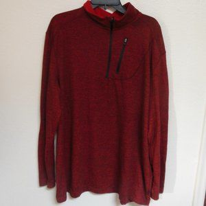 Swiss Tech Heathered Red Pullover Quarter Zip